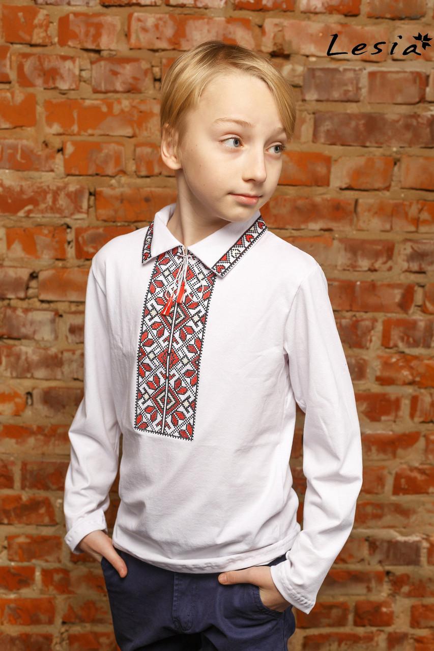 Вишиванка на хлопчика Подільська червона 140 - Інтернет-магазин