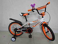 """Детский двухколесный велосипед Azimut Fiber-12"""",оранжевый"""