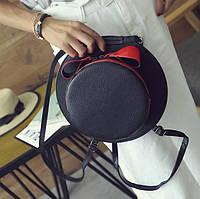 Сумка рюкзак трансформер в форме шляпы с бантиком