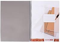 Книга канц. А4,80л., на пруж.,  пластик обл с цв. подкл.