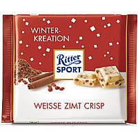 Шоколад Ritter Sport Weisse Zimt Crisp Корица с рисовыми хлопьями 100г