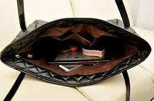 Большая стеганая, дутая сумка баула, фото 3