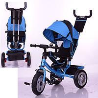 Трехколесный детский велосипед Turbo Trike M3113-5A (2017) синий (надувные колеса), фото 1