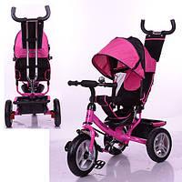 Трехколесный детский велосипед Turbo Trike M3113-6A (2017) розовый (надувные колеса)