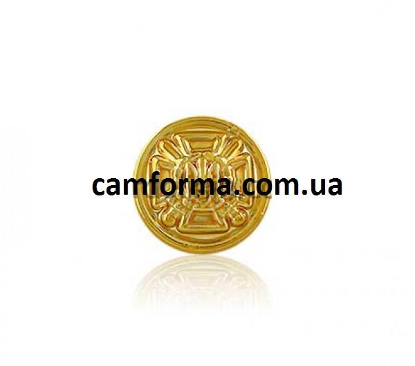Пуговица на обмундирование служащих пограничной службы золото Ø14 мм