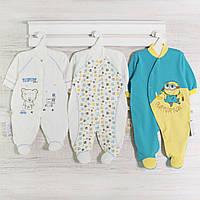 Человечки для новорожденных мальчиков, набор-3шт. Код 14 gerda. В наличии 56,62_68_см. Рост
