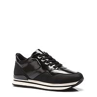 Женские стильные удобные польские черные кроссовки на платформе Vices JT1-1