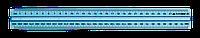 Линейка пласт.30см прозрачная с держателем в блистере