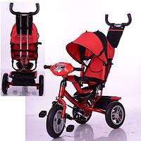 Трехколесный детский велосипед Turbo Trike M115-3НА (2017) красный (надувные колеса)