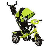 Трехколесный детский велосипед Turbo Trike M115-4НА (2017) зеленый (надувные колеса)
