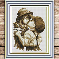 Набор вышивки мальчик с девочкой
