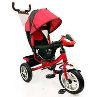 Трехколесный детский велосипед Turbo Trike M115-6НА (2017) розовый (надувные колеса)