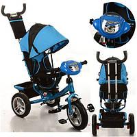 Трехколесный детский велосипед Turbo Trike M115-5НА (2017) синий (надувные колеса)