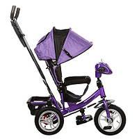 Трехколесный детский велосипед Turbo Trike M115-8НА (2017) фиолетовый (надувные колеса)