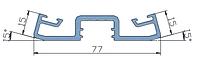 KMD.F50.PP15.Профиль прижимной планки двусторонний угол 15° (6.8 м) RAL