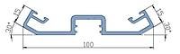 KMD.F50.PP30.Профиль прижимной планки двусторонний угол 30°RAL
