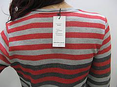 Жіночий світшот в полоску з принтами , фото 2