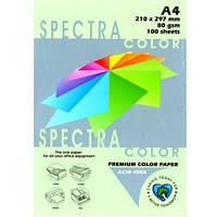 Папір кольоровий,А4 80м/г2,паст.Spectra color зелений (500арк.)