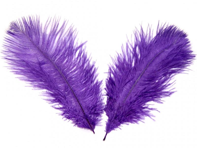 Перо страуса Фиолетовое  .Размер 30см