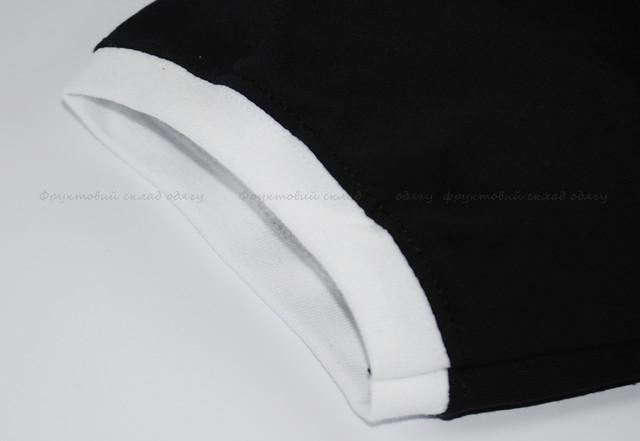 Мужская футболка комбинированная, Чёрный/Белый