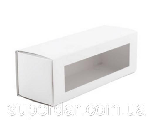 Коробка для макаронс 150х50х53 мм., белая