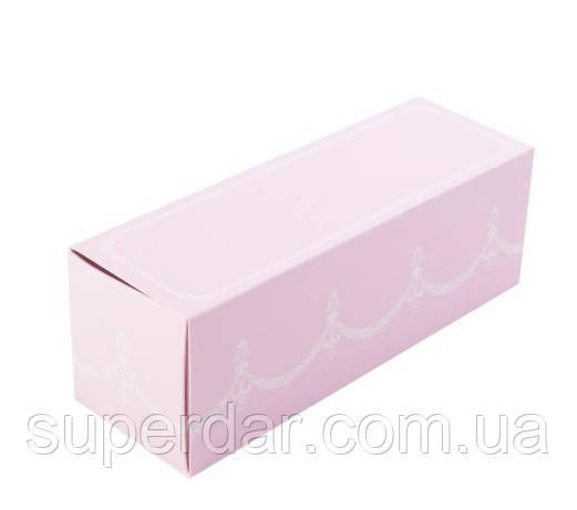 Коробка для макаронс 150х50х53 мм., розовая