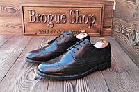 Мужские туфли броги Easy , 28 см, 42 размер. Код: 017.