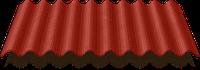 Ондулин красный, зеленый, черный, коричневый
