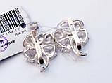 Крупные серебряные серьги Барвинок, фото 5
