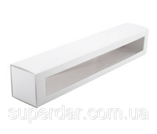 Коробка для макаронс 300х50х53 мм., белая