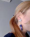 Крупные серебряные серьги Барвинок, фото 4