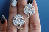 Крупные серебряные серьги Барвинок, фото 2