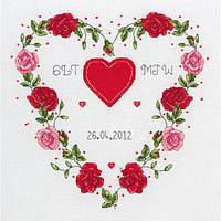 """Набор для вышивания """"Сердца (Hearts Wedding Sampler)"""" ANCHOR (снят с производства)"""