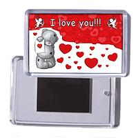 """Акриловый сувенирный магнит на холодильник """"I love you!"""""""