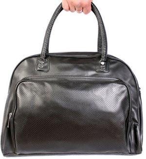Спортивная сумка дорожного типа 19л. кожзам 30302 черная