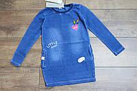 Платье для девочек ( джинсовый трикотаж ) 122 рост