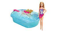 Игровой набор с куклой Barbie Бассейн для щенков - Barbie Pup Pool and Diving Board Set (DMC32)