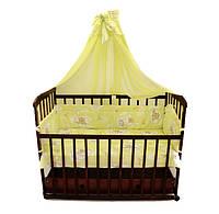 Постель Комплект в детскую кроватку. 7 в 1 + Защита. Расцветки