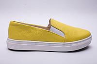 Слипоны №340-28 желтый флотар, фото 1