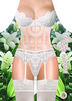 Фартук женский Белое кружевное белье