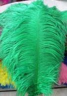 """ПЕРО страуса """"ЛЮКС"""".Цвет Изумрудный.Размер 40-45cм"""