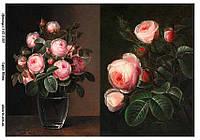 Бумага декупажная, Цветы, Alizarin, 20х30 см