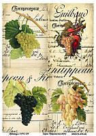 Бумага декупажная, Фрукты и овощи, Alizarin, 20х30 см