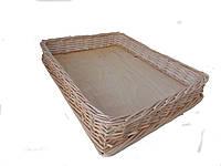 Лоток плетеный из лозы h10-50*35