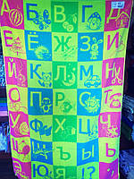 Простынь махровая ТМ Речицкий текстиль (Белоруссия), Алфавит, 104х160 см