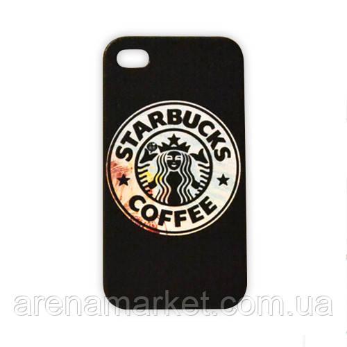 Чохол для iPhone 4/4S Starbucks - чорний