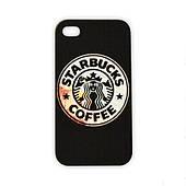 Чехол для iPhone 4/4S Starbucks - черный
