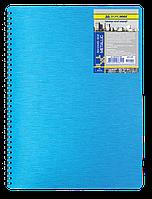 Блокнот А4, 80 л.,пластиковая обл. пружина, асс, Metallic
