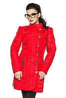 Красная куртка женская, стильная куртка красная