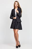 Женский  черный   костюм  Жанна с юбкой   Leo Pride  42-48 размеры